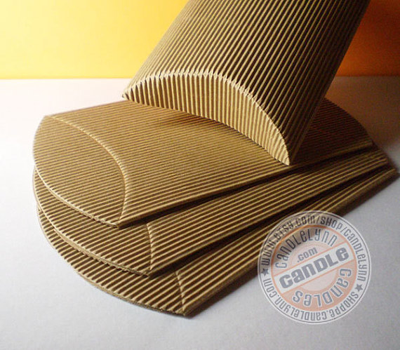 10 X Large Corrugated Kraft Pillow Boxes 6 3 4 X 5 1 8 X 1 1 2 Pillow Box Gift Wrapping Corrugated Box