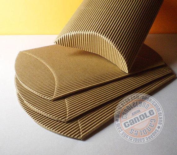 10 X Large Corrugated Kraft Pillow Boxes 6 3 4 X 5 1 8 X 1 1 2 Pillow Box Gift Wrapping Corrugated Box