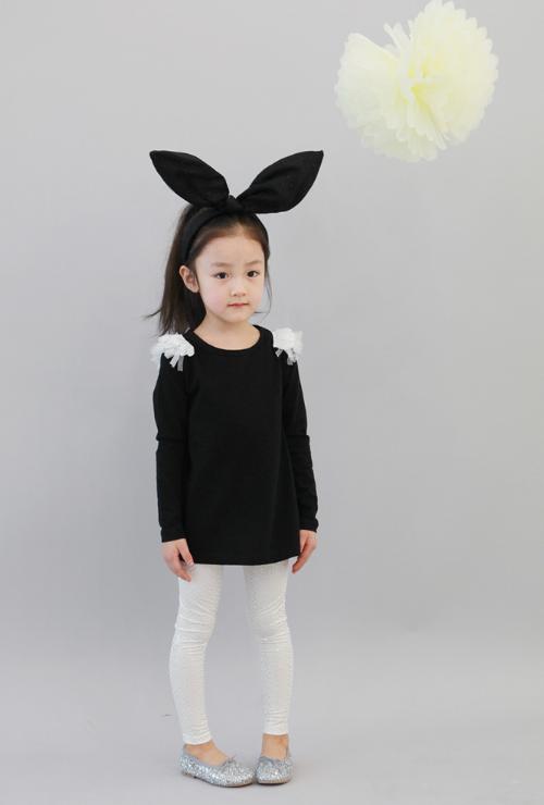 [The Jany] Children's Tulle Shoulder Top