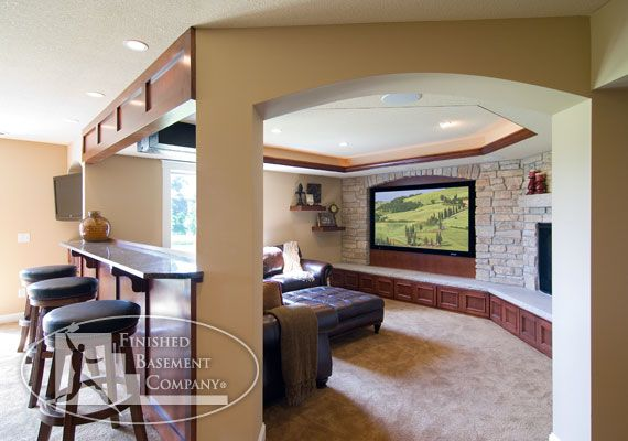 Entertainment Rooms Finished Basement Company Calamus