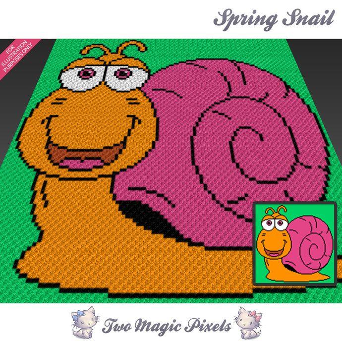 Spring Snail crochet blanket pattern; c2c, knitting, cross stitch ...