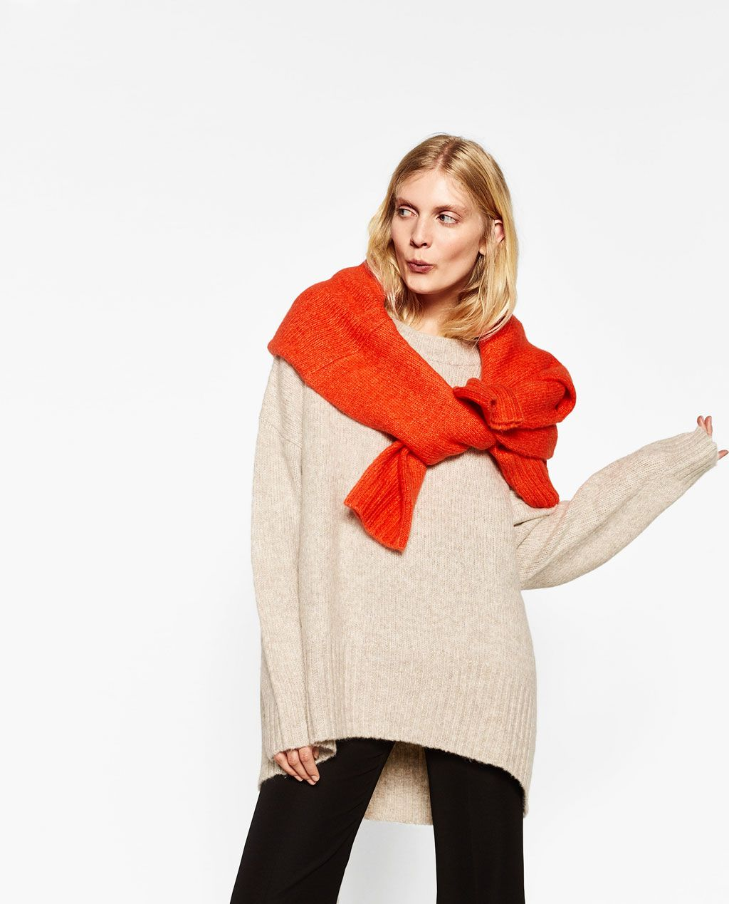 OVERSIZED SWEATER-View all-KNITWEAR-WOMAN | ZARA United States ...