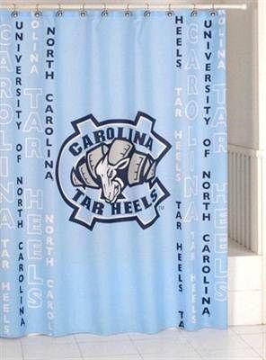 North Carolina Tar Heels Shower Curtain North Carolina Tar Heels