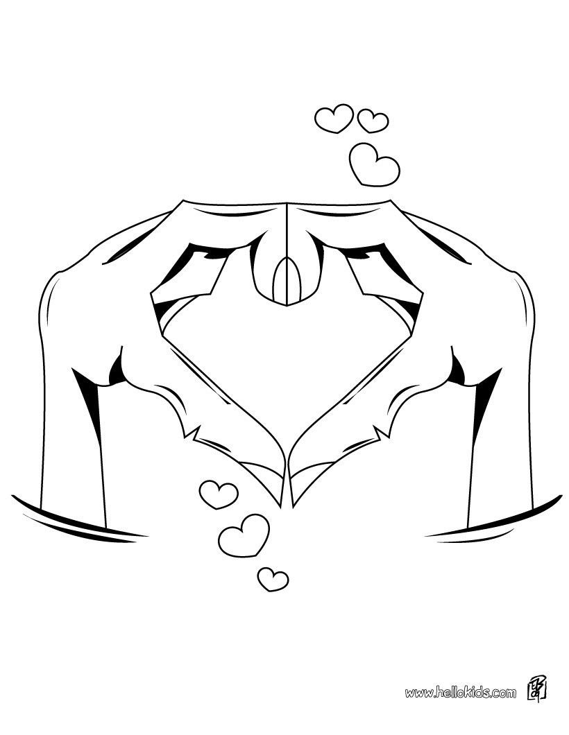 herz zum ausmalen  herz in händen zum ausmalen  heart
