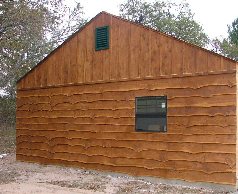 Natural edge aromatic cedar siding ours will be stained for Real wood siding