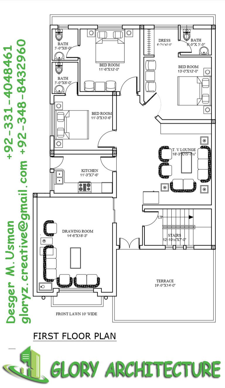 40x80 Islamabad House Plan 10 Marla House Plan My House Plans Indian House Plans
