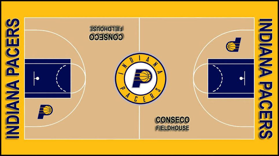 Indiana Pacers Court   My sports teams   Indiana pacers