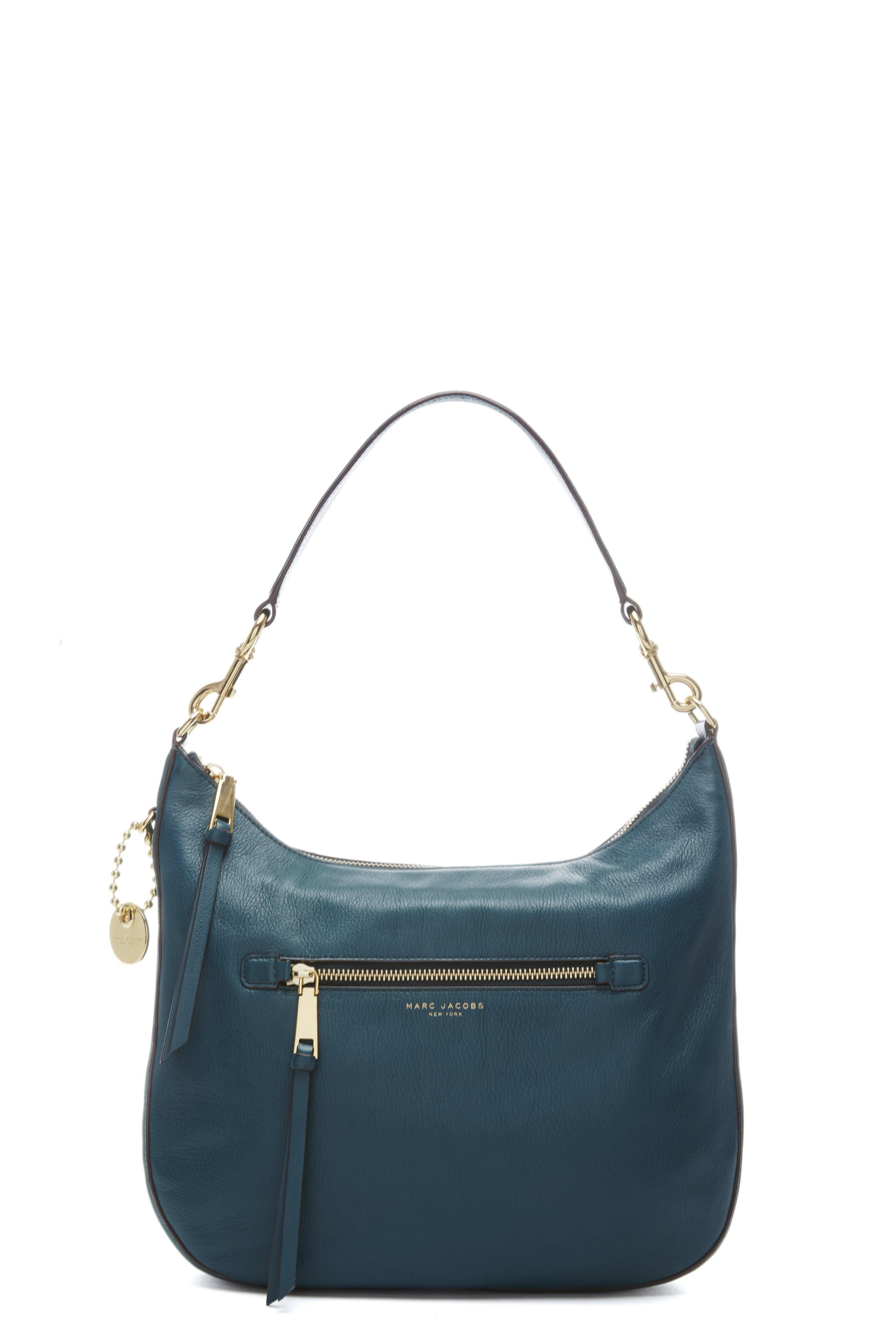 420671e29acc The Marc Jacobs Recruit Hobo mixes high and low with luxe leather and  understated hardware The