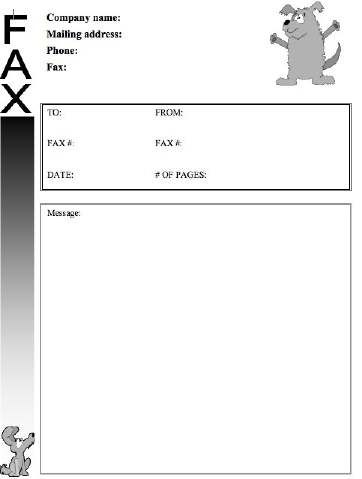 Veterinarians, pet shops, and dog lovers can make use of this fun - sample funny fax cover sheet