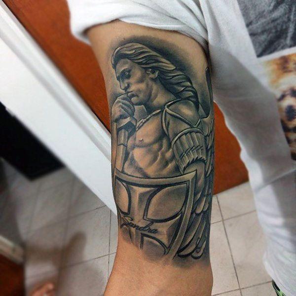 bd8253256b4de 100 Guardian Angel Tattoos For Men - Spiritual Ink Designs ...