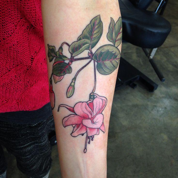 Fuchsia By Alice Kendall At Wonderland Tattoo Feminine Tattoos Tattoos Botanical Tattoo