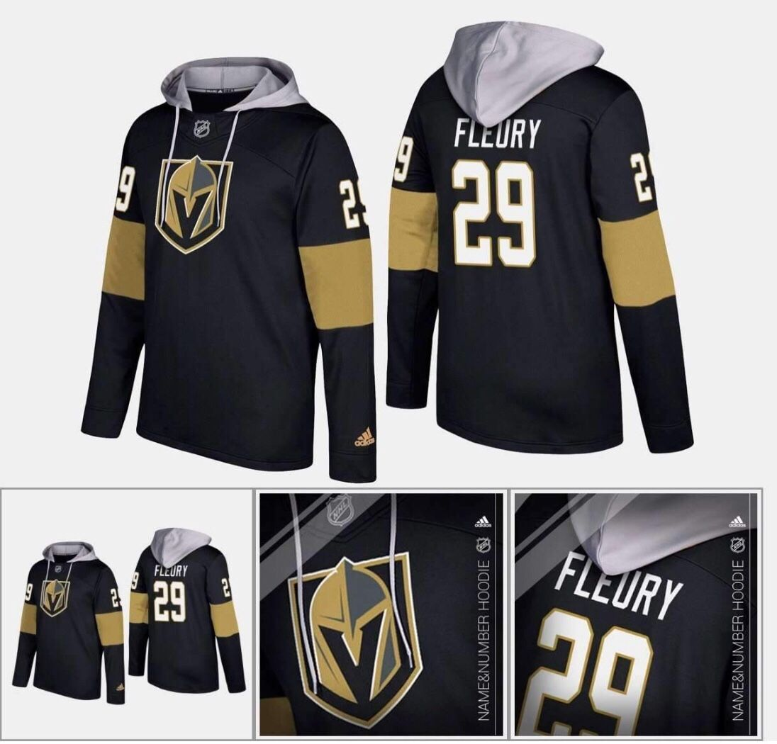 brand new 2aeb4 8e2af Vegas Golden Knights Adidas NHL Hockey Jersey Style Hoodie ...