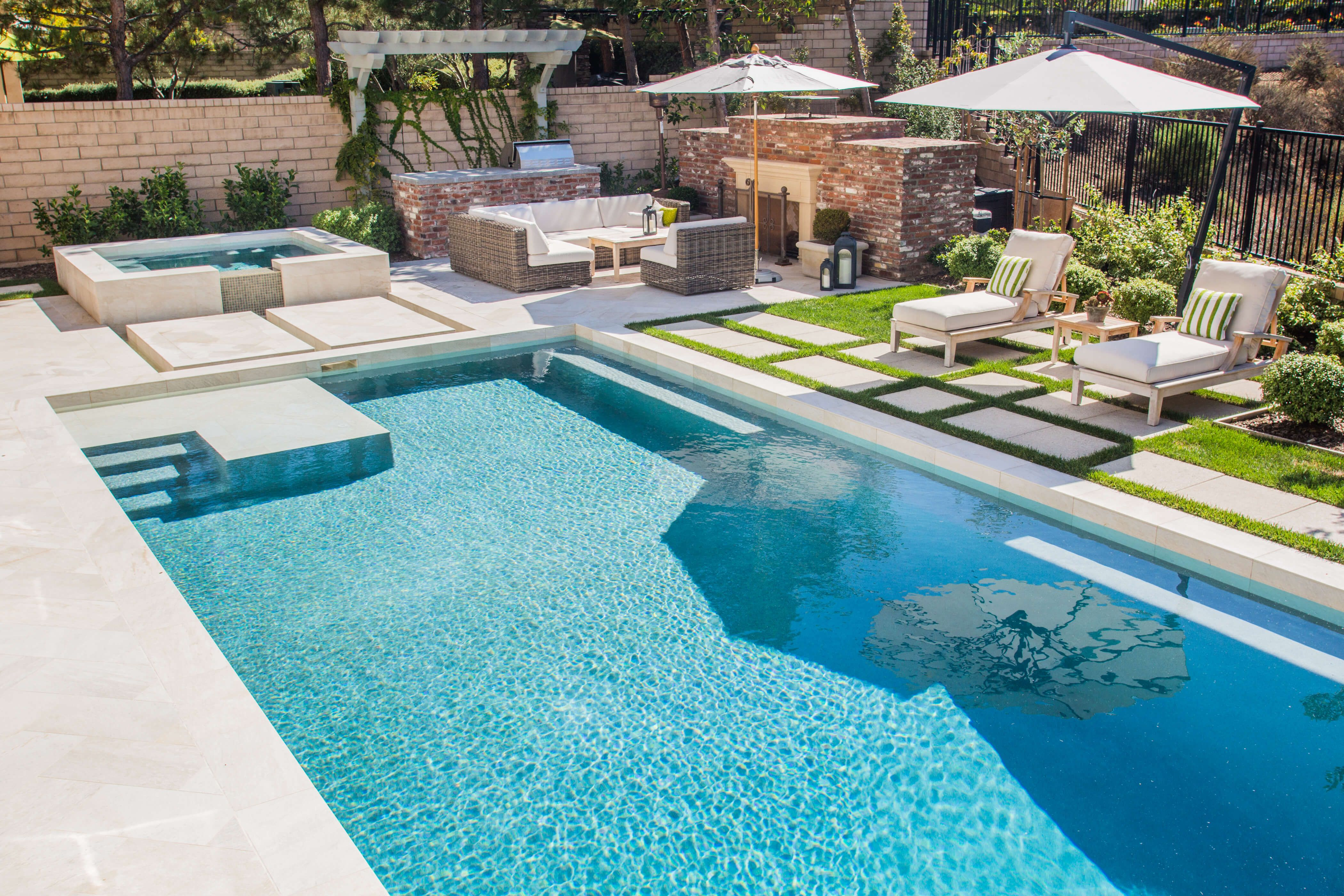 Carmel Valley Modern Pool And Spa With Sharp Edges 2 Modern Pool