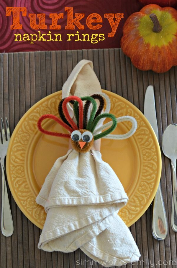Heres a quick way to make turkey napkin rings for kids pinterest pin for later diy turkey napkin rings by simmworksfamily easy thanksgiving projects solutioingenieria Gallery