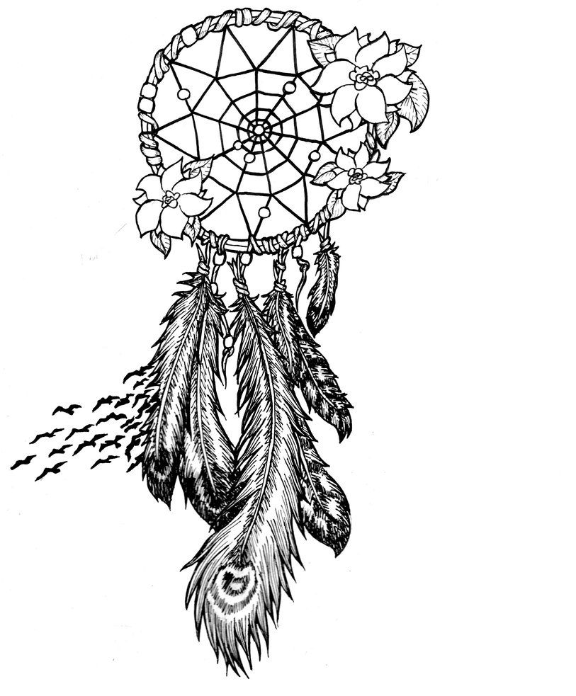 detailed dream catcher coloring pages - photo#21