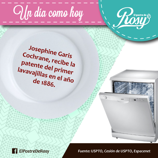 Origen del #lavavajillas #Cocina  #Postres #Puebla  www.facebook.com/ElPostreDeRosy