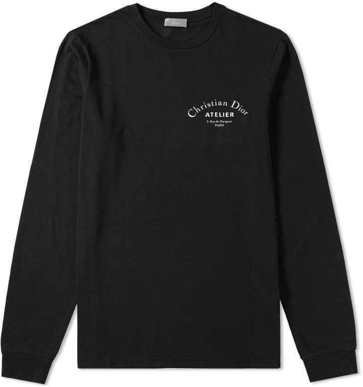 Dior Homme Long Sleeve Atelier Tee   Products   Long sleeve, Tees, Dior 8707ce32be1b