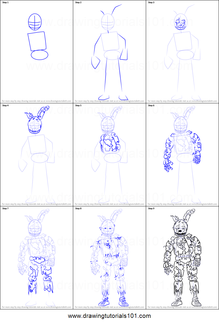 More on how to draw a Springtrap