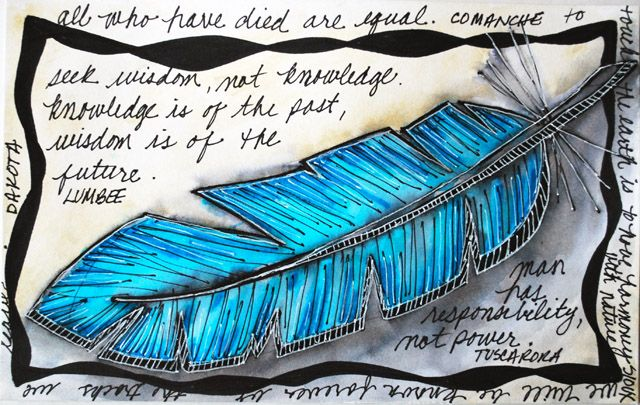 Native fearther   ... BLOG: SKETCHY IDEAS: FEATHER ILLUSTRATION WITH NATIVE AMERICAN QUOTES