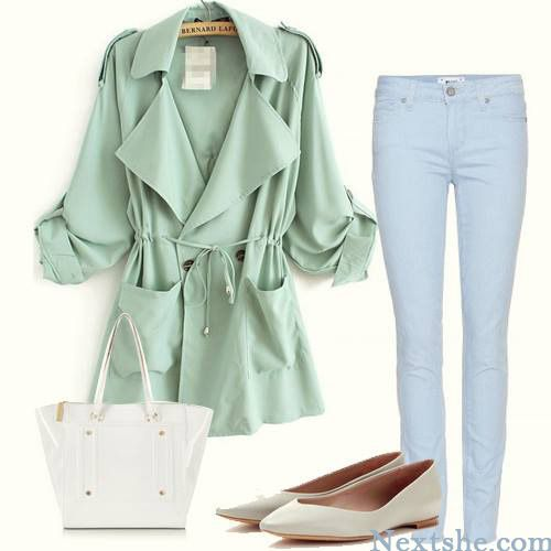 Green stuff trench coat