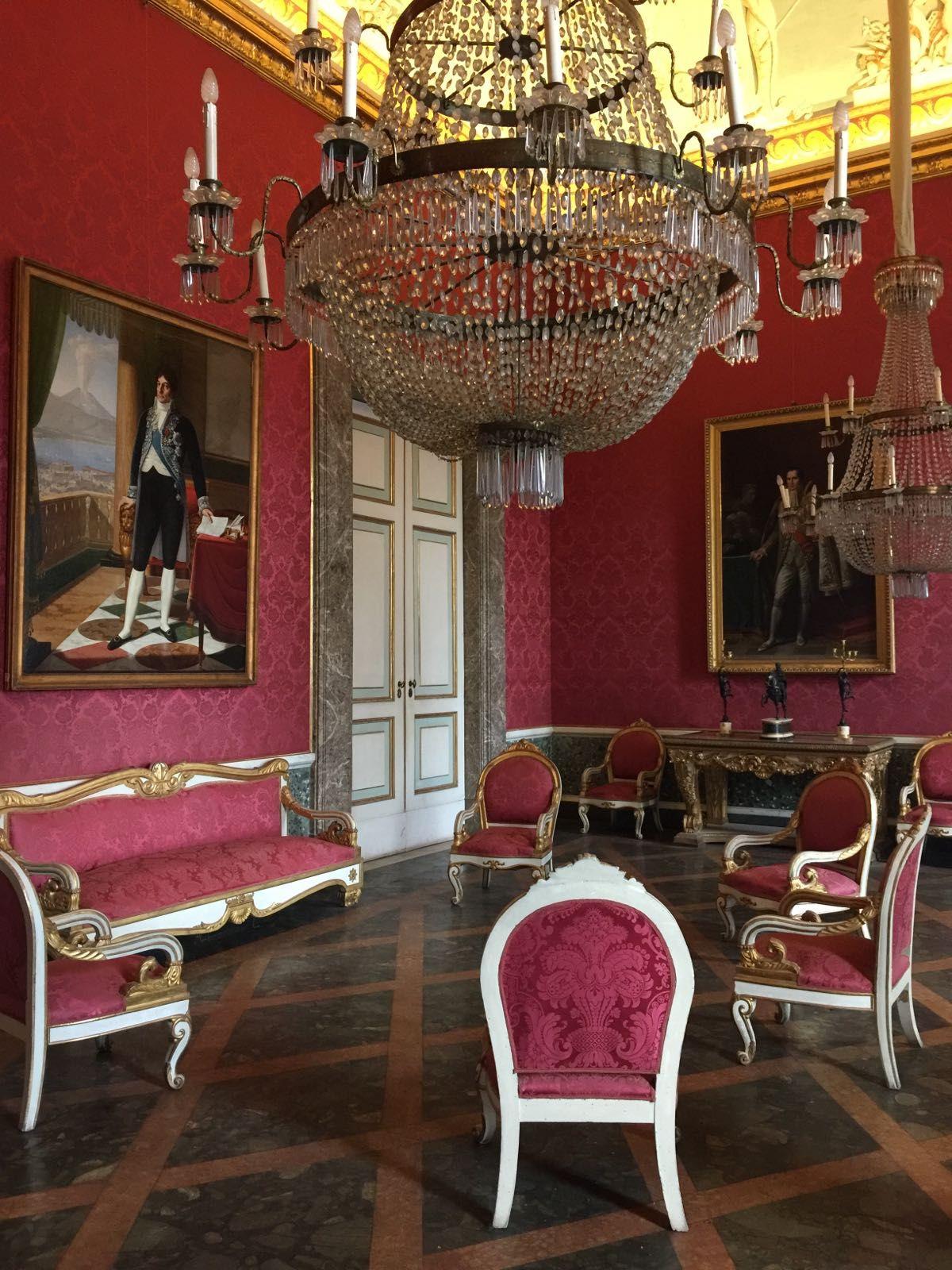 Royal Palace Of Caserta Interior Near Naples Italy