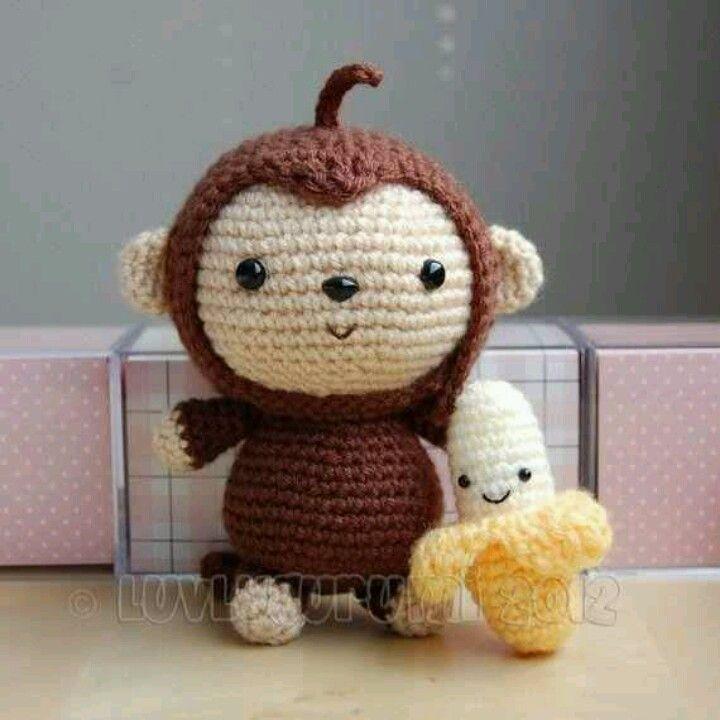 Hækle mønstre Cute monkey
