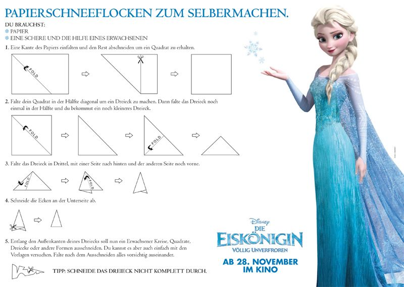 schneeflocke frozen kindergarten diy pinterest schneeflocken papierschneeflocken und. Black Bedroom Furniture Sets. Home Design Ideas
