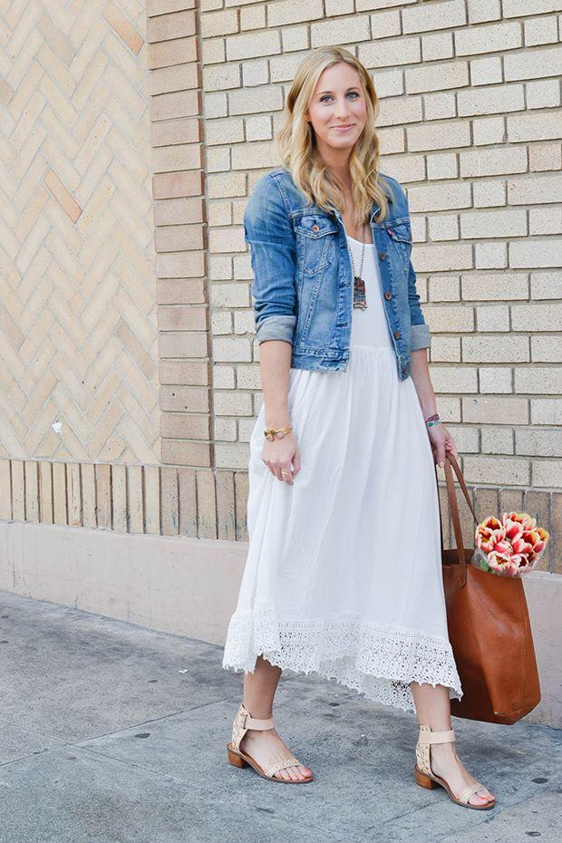 Stepping Into Spring How To Wear Denim Jacket Denim Jacket With Dress Stylish Denim