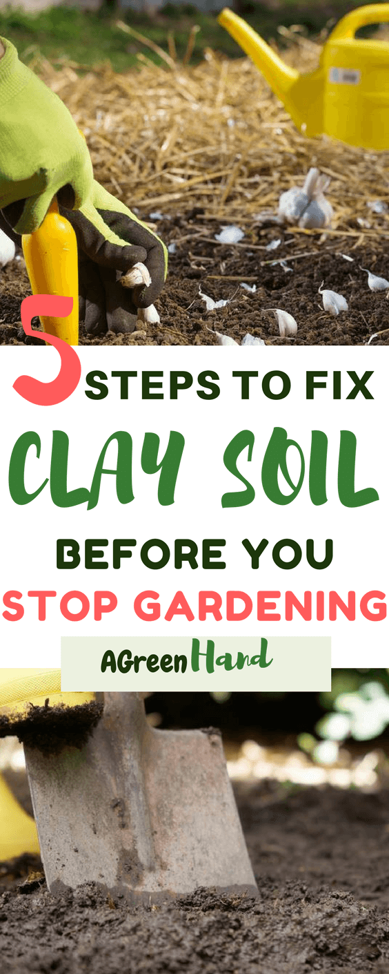 how to fix clay soil in a garden