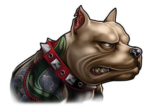 Inked Dogs Temporary Tattoo Set Dog Tattoos Pitbull Tattoo Pitbull Drawing