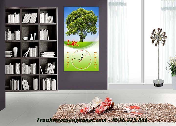 Tranh cây xanh treo tết chữ Lộc ý nghĩa