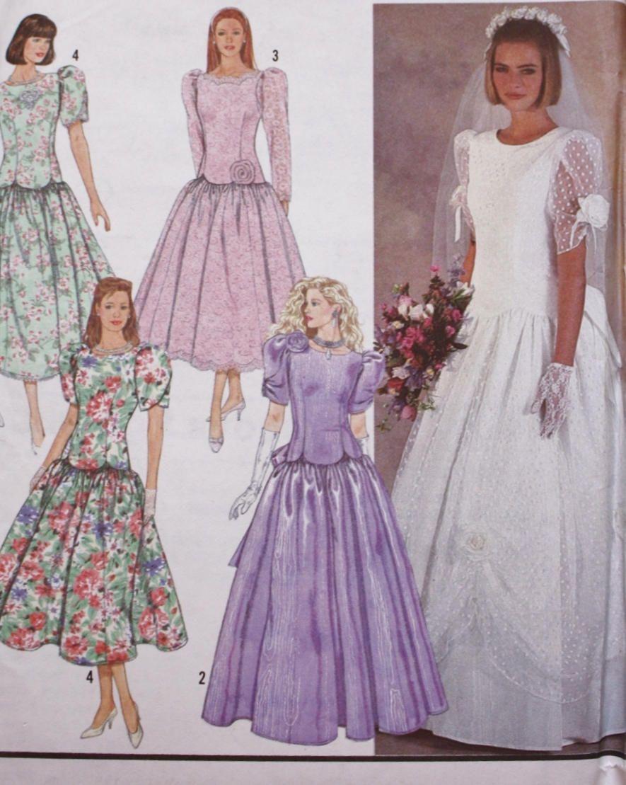 Wedding Dress Sewing Pattern/ Bridal Dress Pattern/Simplicity 7062 ...