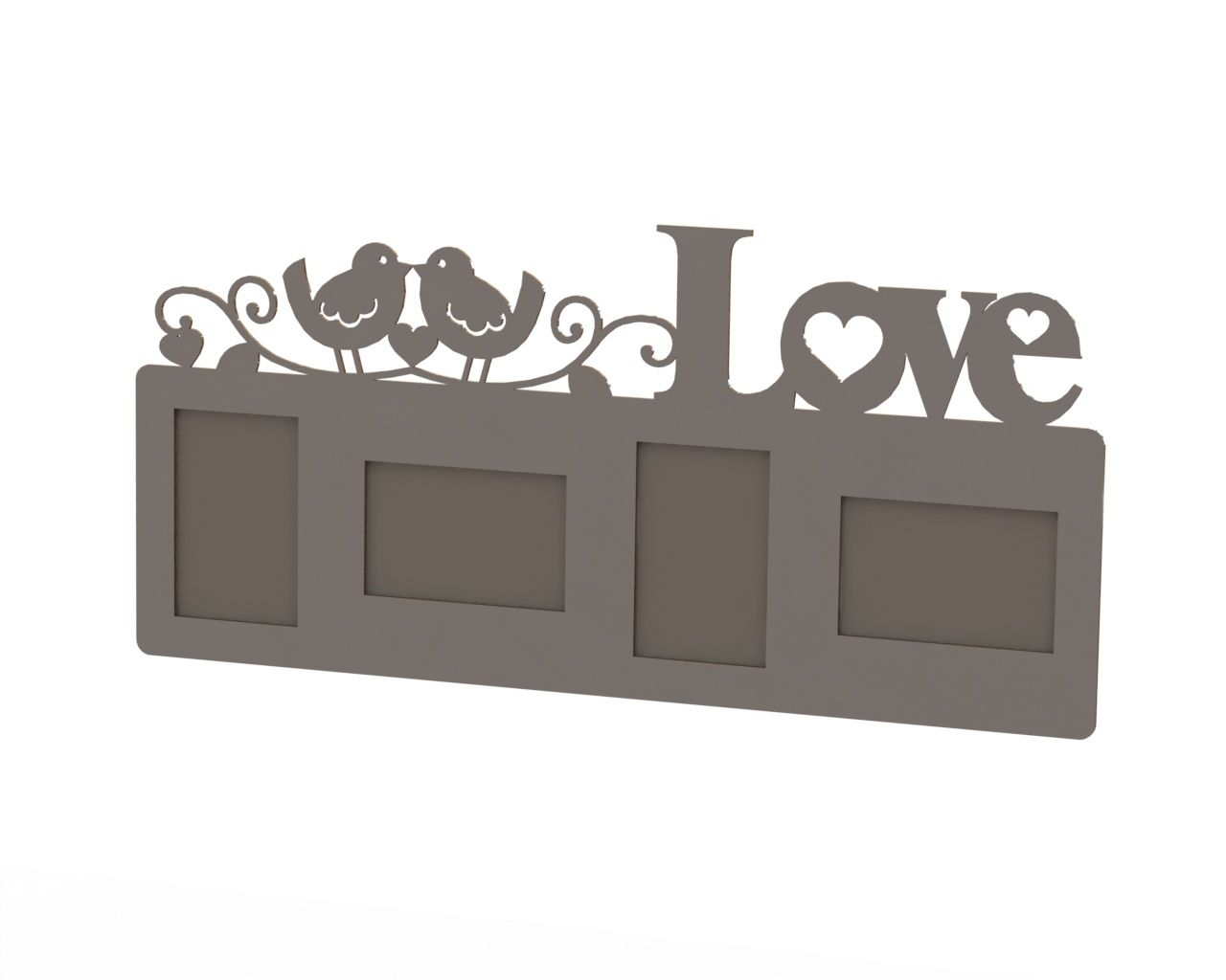 Love Frame Laser Cut DXF File Free Download | Laser cut