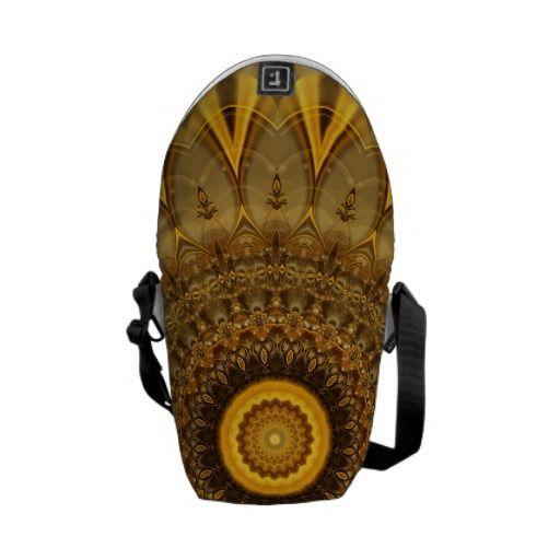 Mandala Faith gold created by tutti Courier Bag