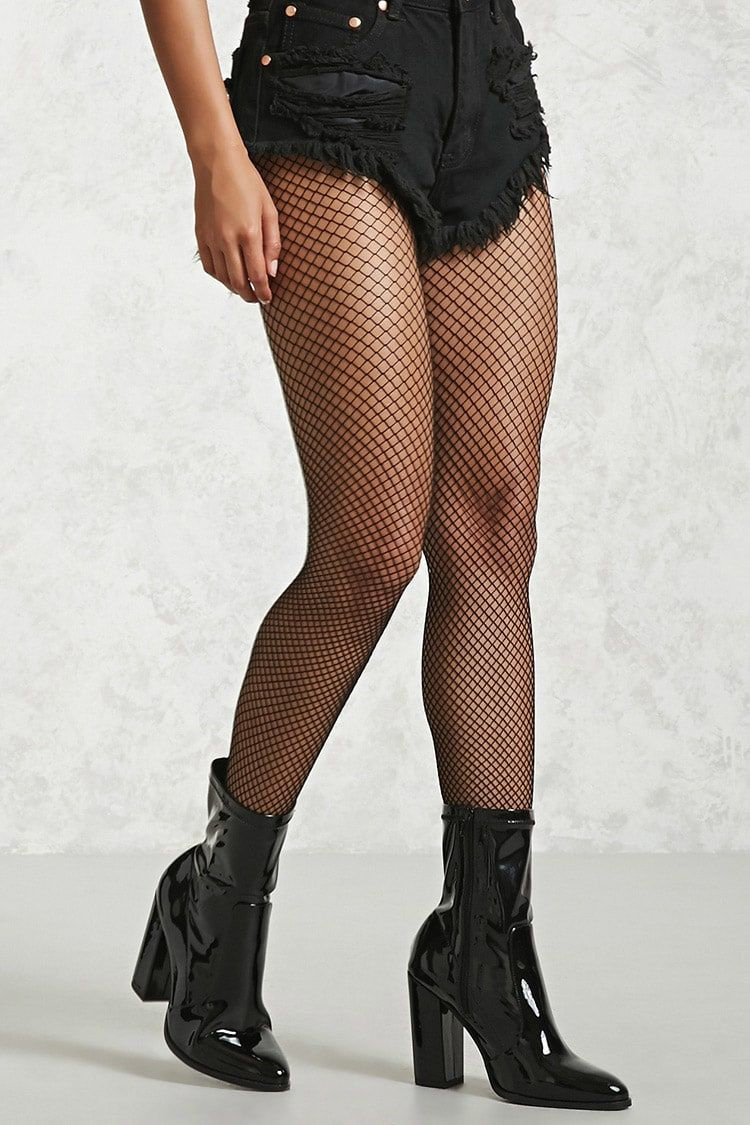 44df97bdfdc1c A pair of sheer tights featuring a stretch-fishnet design and an  elasticized waist.