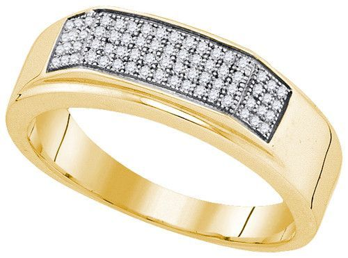 0.20CTW DIAMOND MICRO PAVE MENS BAND