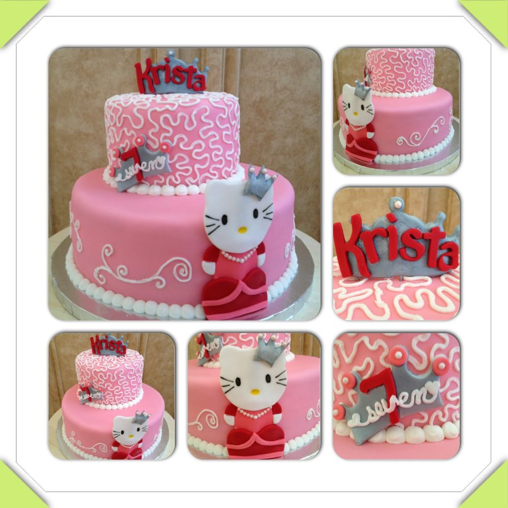 Princess Hello Kitty birthday cake www.facebook.com ...