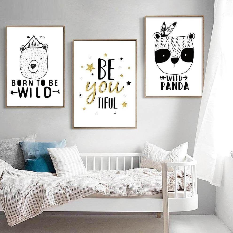 Be You Be Brave Nursery Art in 19  Baby bedroom, Nursery canvas