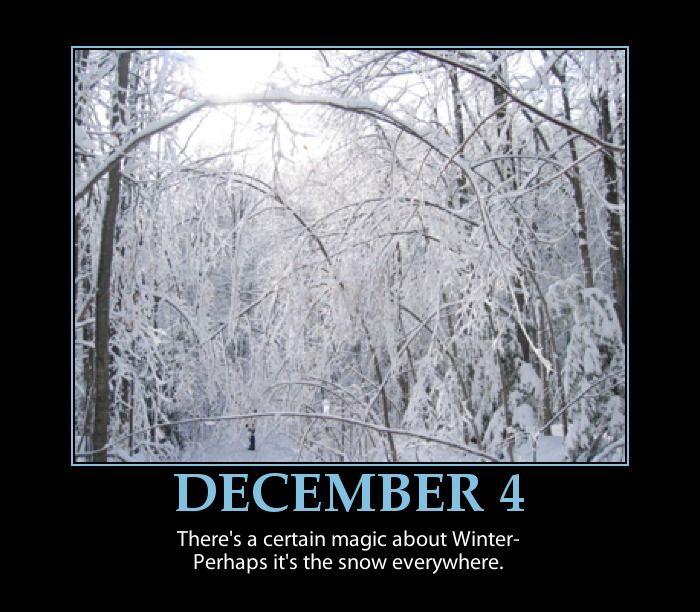 DECEMBER 4 INSPIRATIONAL ADVENT CALENDAR ~ Winter Scene ...