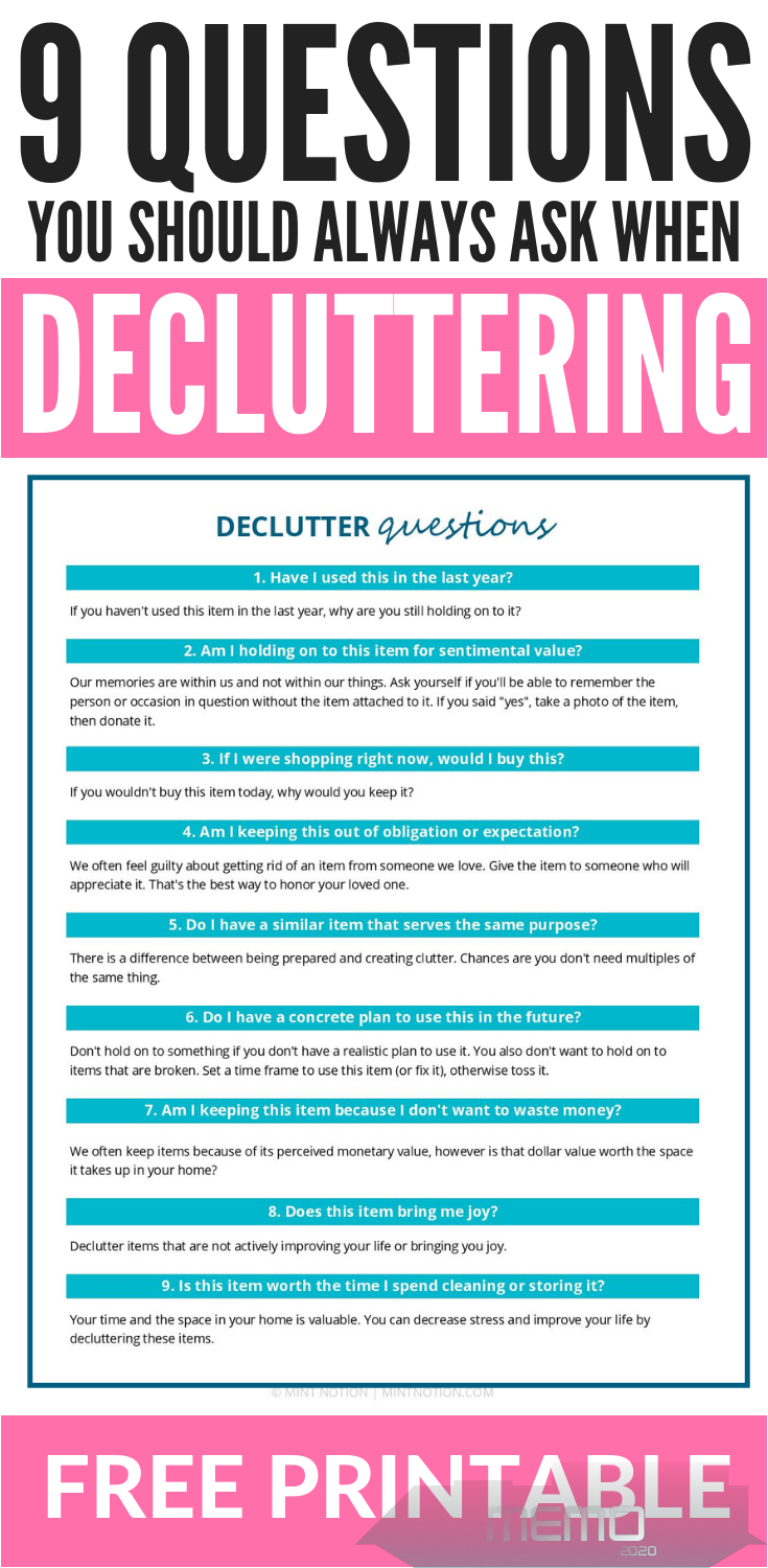 Feb 6, 2019 - Declutter binder printables. Get your home organized and tidy with these