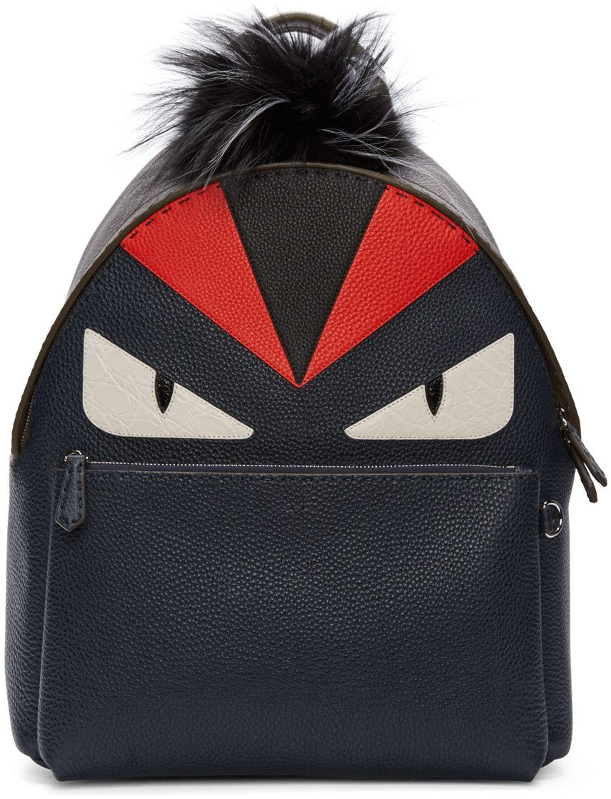 Fendi Mini Monster Plush Backpack