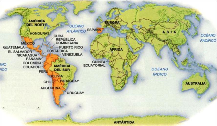 Mapa Costa Norte España.Mapa Del Mundo Cg Linguistics Spanish How To Speak