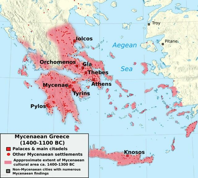 Map of mycenaean greece 1400 1200 bc palaces main cities and other map of mycenaean greece 1400 1200 bc palaces main cities and other settlements gumiabroncs Choice Image