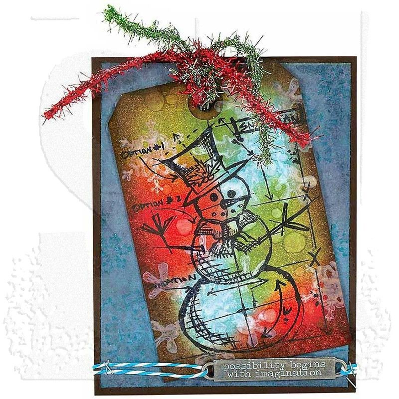 Tiny Text Christmas Tim Holtz papercrafting mixed media card making art journaling xmas Stampers Anonymous stamp set 4 stamps cling