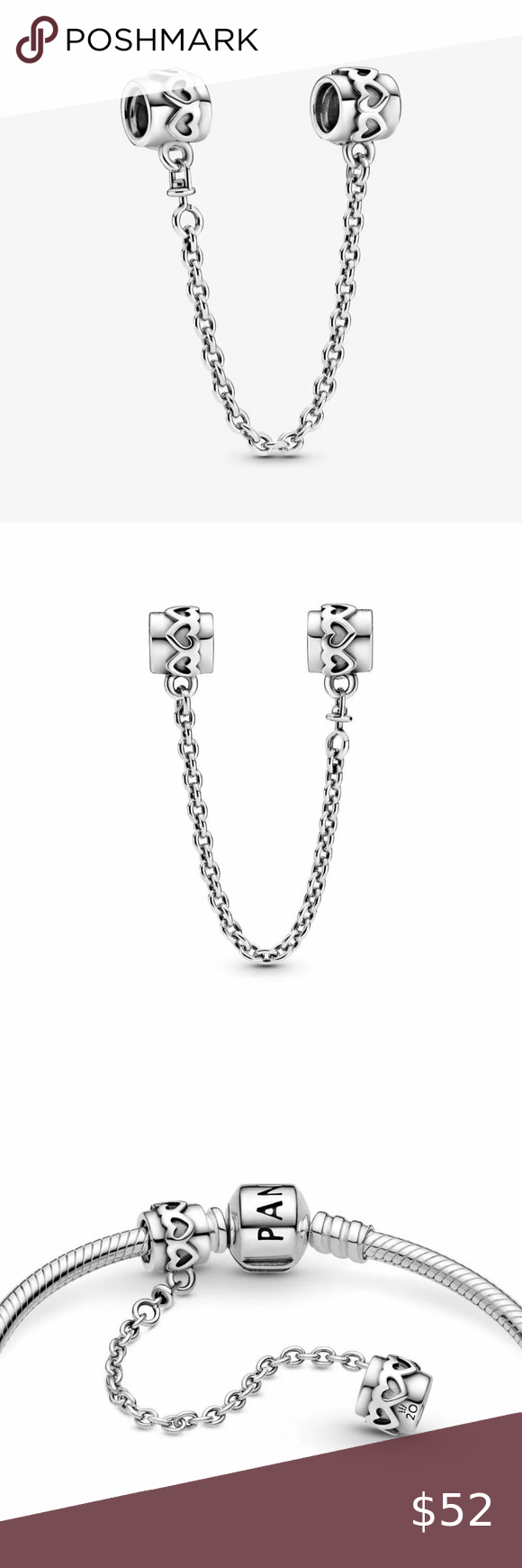 Pandora 2020 Limited Edition Hearts Safety Chain C Metal:Sterling ...