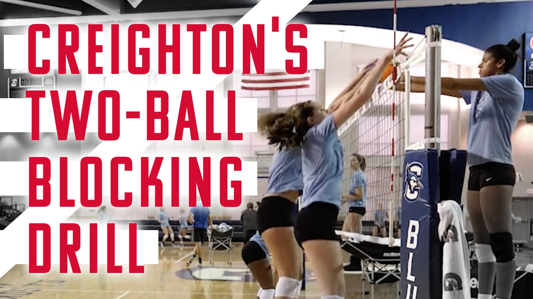 Keep Your Pin Blockers Focused On Getting All The Way To The Hitter And Getting Their Hips Cl Coaching Volleyball Volleyball Quotes Volleyball Drills