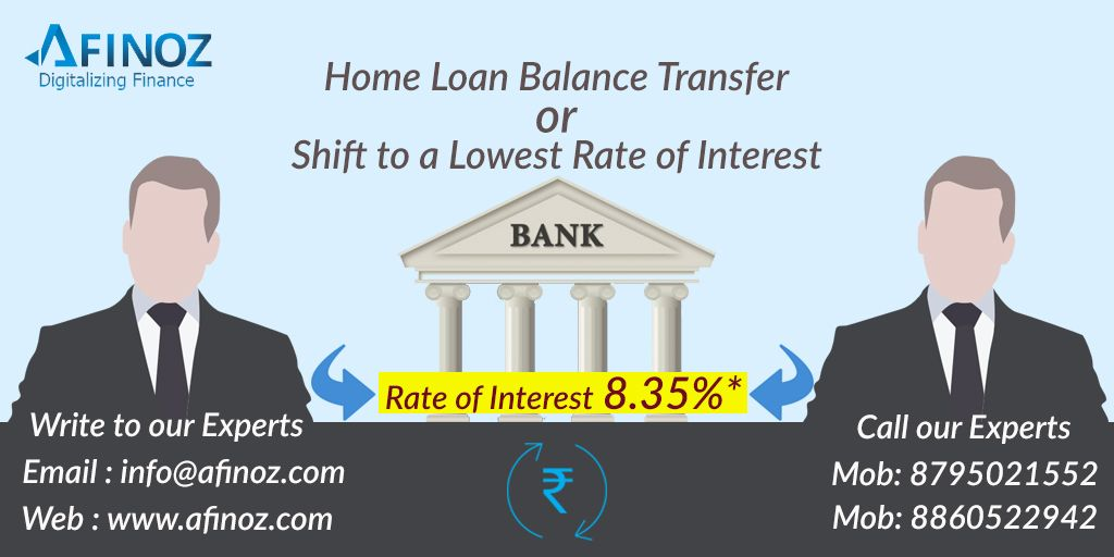 Free Of Cost Home Loan Balance Transfer Services From Afinoz Save Your Money With Lowest Interest Rate Just Transfer Your Personal Loans Business Loans Loan