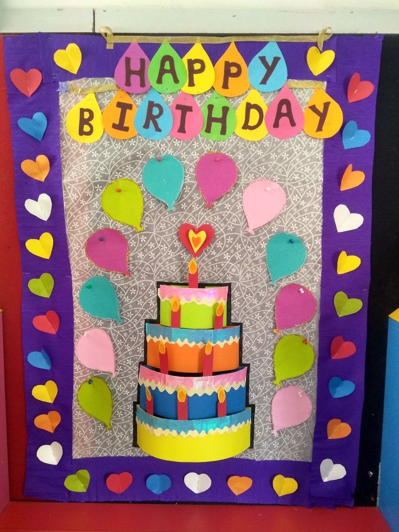 Birthday chart for preschool board | Classroom display ...