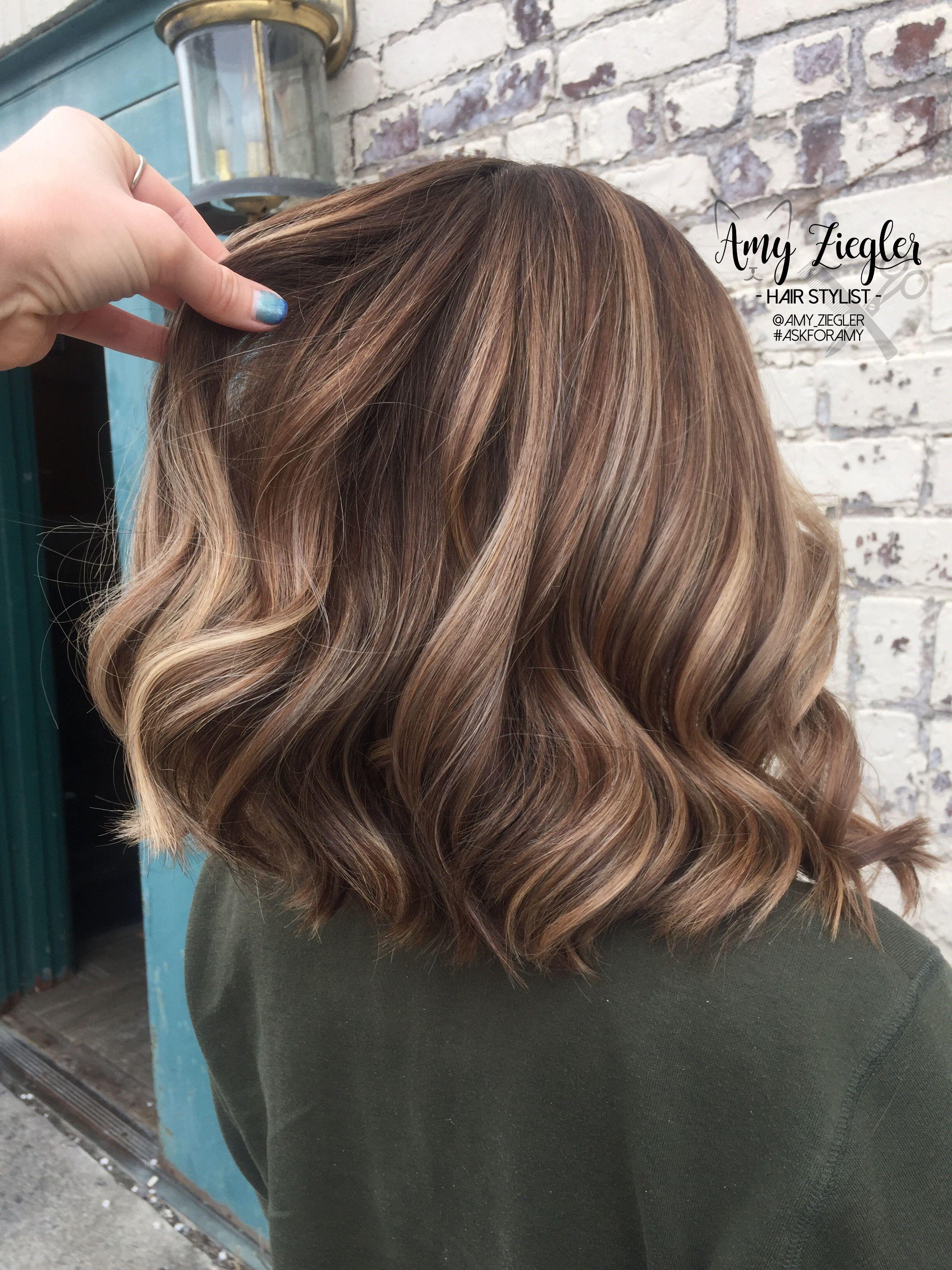 Brunette Blonde Balayage And Lowlights By Amy Ziegler