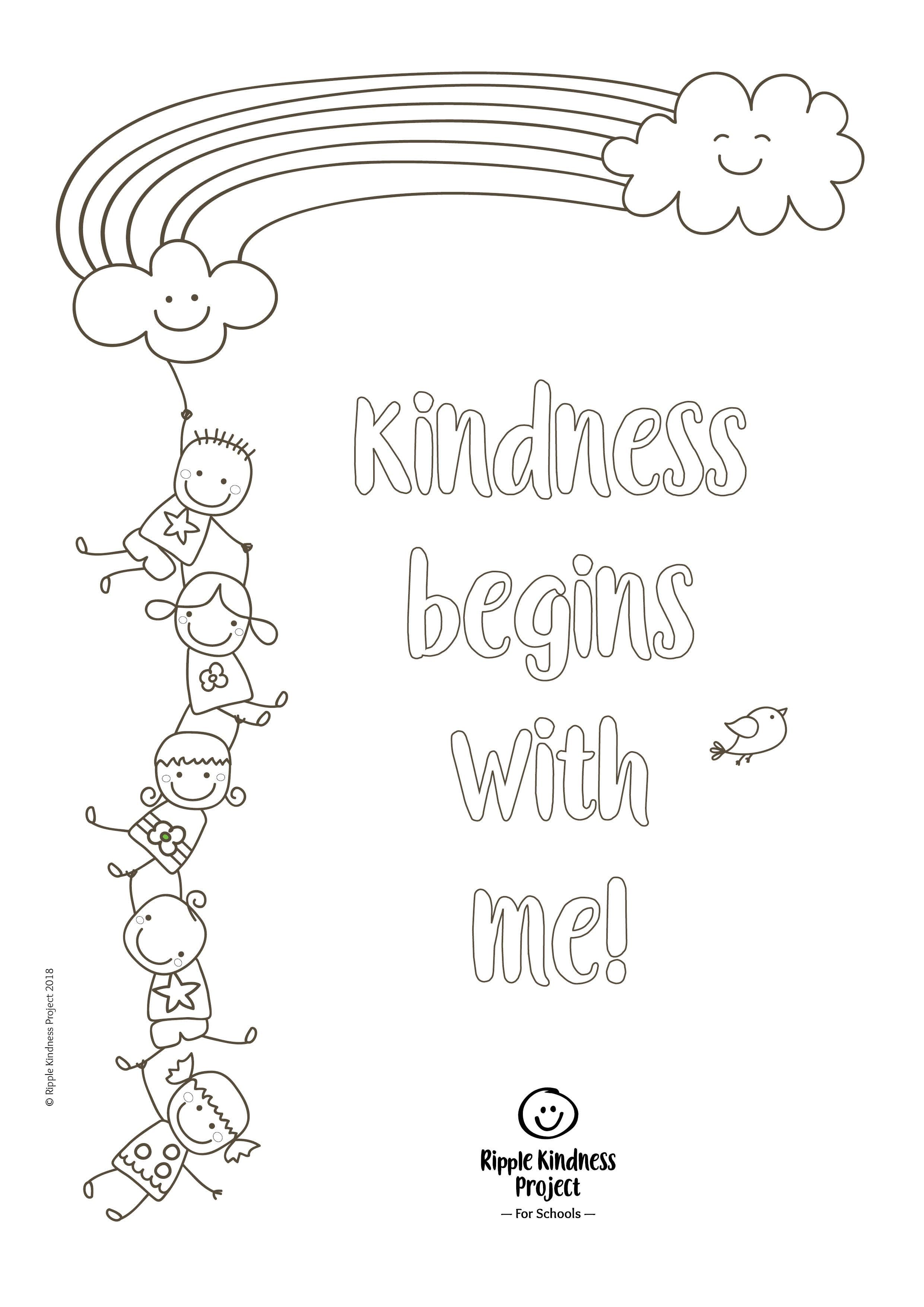 Free Kindness Colouring Page Great Mindfulness Activity